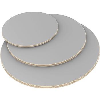 100x100 cm AUPROTEC Tischplatte 12mm wei/ß 1000 mm x 1000 mm quadratische Multiplexplatte melaminbeschichtet von 40cm-200cm ausw/ählbar Birken-Sperrholzplatten Massiv Holz Industriequalit/ät Auswahl