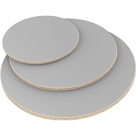 AUPROTEC Multiplexplatte 21mm rund /Ø 800mm Holzplatten von 20cm-148cm ausw/ählbar runde Sperrholz-Platten Birke Massiv Multiplex Holz Industriequalit/ät als Tisch-Platte Bistro-Tisch etc verwendbar