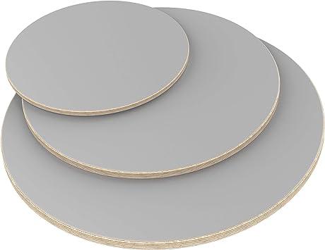 AUPROTEC Tischplatte 18mm rund /Ø 200 mm grau Multiplexplatte melaminbeschichtet von 20cm-148cm ausw/ählbar runde Sperrholz-Platten Massiv Multiplex Holz Industriequalit/ät