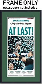 The Philadelphia Inquirer Newspaper Frame - with Philadelphia Eagles Colors Double Mat