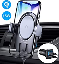 VANMASS Wireless Car Charger Mount, 15W Qi Fast Charging Auto-Clamping Mount, Air Vent Phone Holder Compatible with iPhone 11/11 Pro/Pro Max/XS MAX/XS/XR/X/8, Samsung Note 10/S10/S9/S8/S7, Pixel/LG