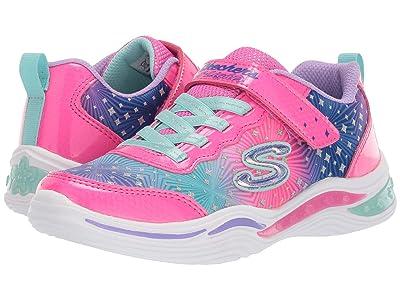 SKECHERS KIDS Sport Lighted Power Petals-Painted 20335N (Toddler) (Neon Pink/Multi) Girl