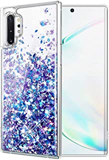 Caka Glitter Case for Galaxy Note 10 Plus Glitter Case Liquid Bling Sparkle Luxury Fashion Flowing Floating Soft TPU Cute Women Girls Phone Case for Samsung Galaxy Note 10+ Plus 5G (Blue Purple)