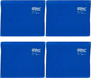 Chattanooga ColPac Reusable Gel Ice Pack Cold Therapy - Blue Vinyl - Standard - 11 in x 14 in - (4 Pack - Value Bundle)