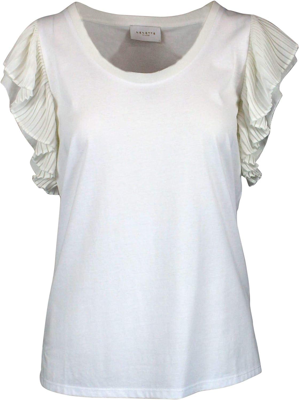 Nenette Women's DUBLINO0001 White Cotton TShirt