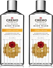 Cremo All Season Body Wash, Citron & Vetiver, 16 Ounce, 2-pack - Sophisticated, Invigorating Scent with Fresh Citrus Notes and Clean, Woodsy Undertones