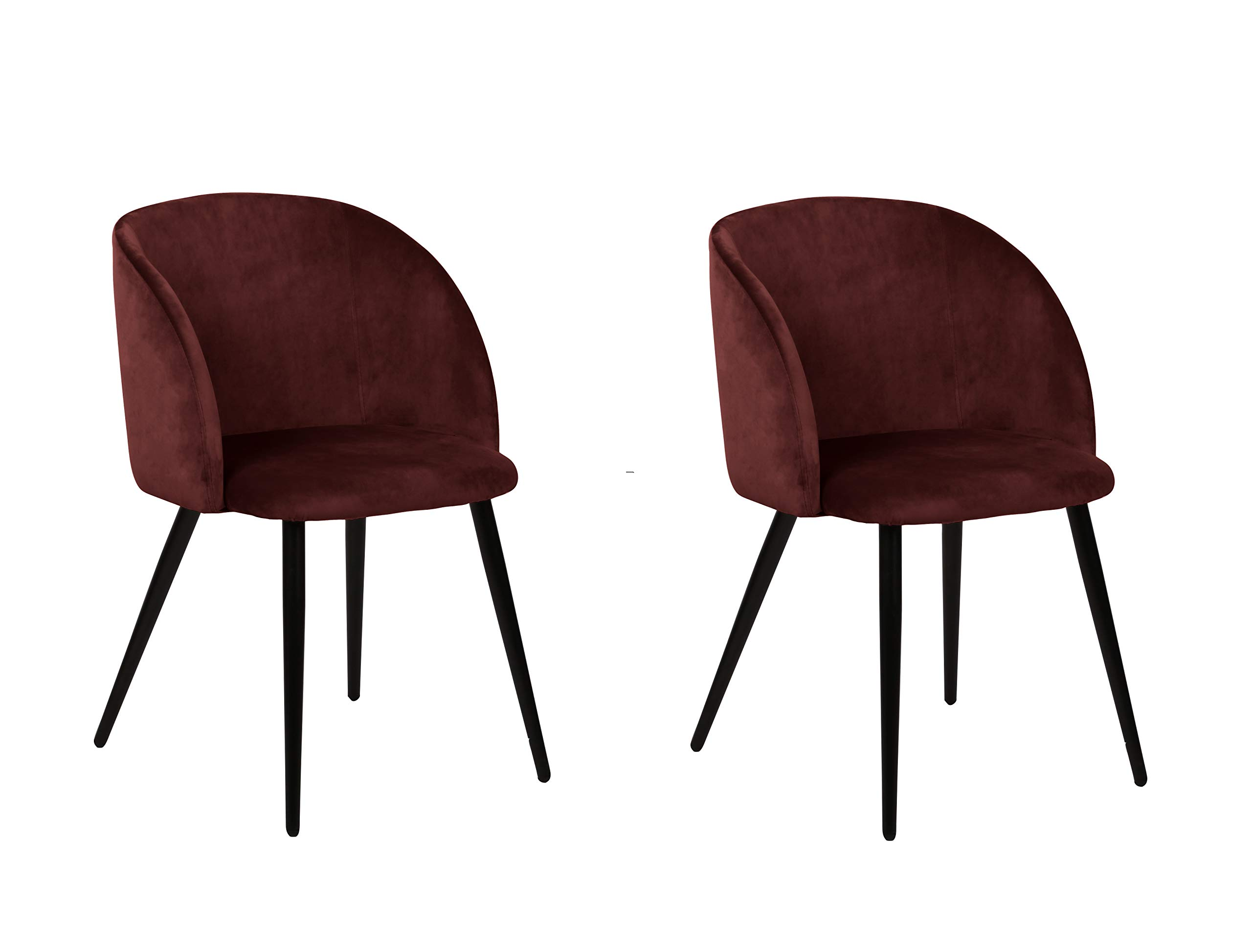 eSituro 2 x Sedie Sala da Pranzo Sedie Eleganti per Cucina Moderne da Scrivania con Schienale Velluto Grigio Piedi Dorati in Metallo SDC0205-2