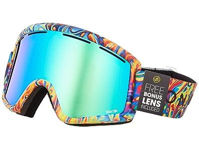 VonZipper Cleaver Goggle (John Jackson Tie-Dye Gloss/Wild Quasar Chrome Lens) Snow Goggles