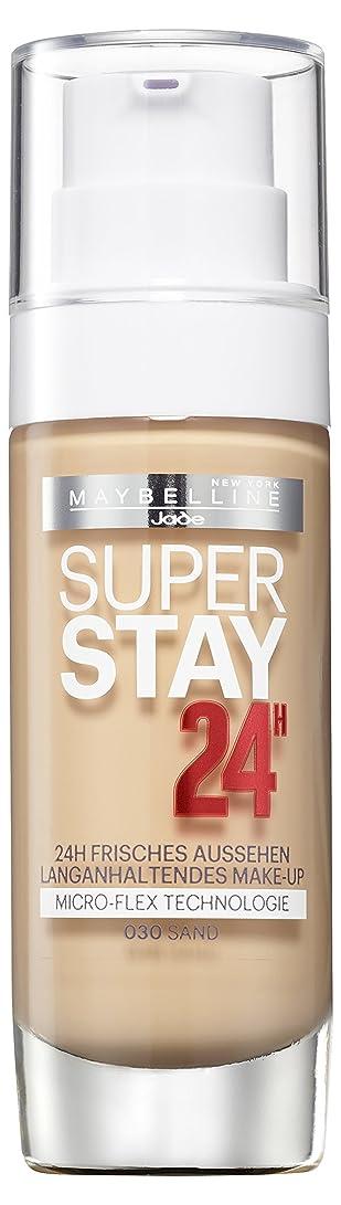 一般再集計裁判官Maybelline New York Super Stay 24H Make-Up Sand 030, 1er Pack (1 x 30 ml)