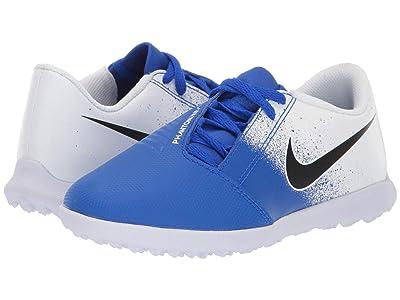 Nike Kids Jr. Phantom Venom Club TF Soccer (Toddler/Little Kid/Big Kid) (White/Black/Racer Blue) Kids Shoes