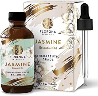 Jasmine Essential Oil 4 Oz - 100% Pure and Natural for Hair Skin Diffuser Therapy Home Fragrance Acetite Large Bottle with...