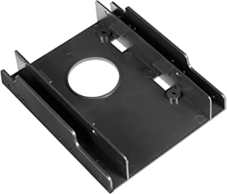 WDX SSD HDD Plastic Mounting Bracket Adapter Hard Drive Holder for PC,Convert Any 2 x 2.5 inch Solid State Drive/HDD Into a 3.5 inch Drive Bay