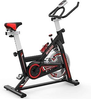 SHUOQI Ciclette per casa Bicicletta per Allenamento, per Spinning, qualità Professionale,Volano bidirezionale, Trasmission...