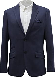 HARRY BROWN Men's Blue/Grey Viscose Blend Blazer 38-52