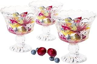 Dessert  Ice cream cups Mini trifle bowls,salad fruit dish 6 OZ set of 6 clear