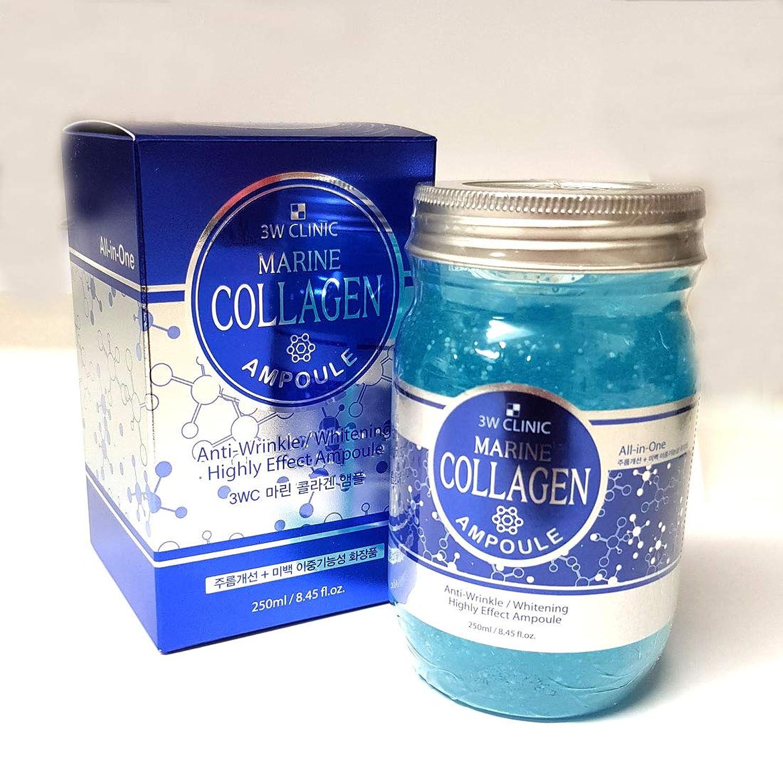 制約心から会計士[3W CLINIC] マリンコラーゲンアンプル250ml / Marine Collagen Ampoules 250ml / シワ改善剤+ホワイトニング/Wrinkle Remedy + Whitening/韓国化粧品/Korean cosmetics [並行輸入品]