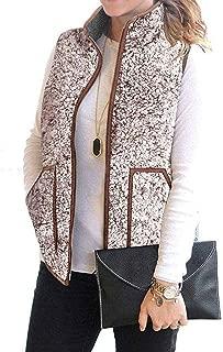 MEROKEETY Women's Slim Fall Quilted Herringbone Puffer Vest with Zipper