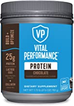Vital Performance Protein Powder, 25g Lactose-Free Milk Protein Isolate Powder, NSF for Sport Certified, 10g Grass-Fed Collagen Peptides, 8g EAAs, 5g BCAAs, Gluten-Free - Chocolate, 1.72lb