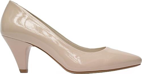 MUGA 1285-BEI - zapatos de vestir de Piel para mujer Beige beige