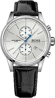 ساعة جيت للرجال من هوغو بوس بمينا بيضاء وسوار من الجلد - 1513282، عرض انالوج، حركة الكوارتز