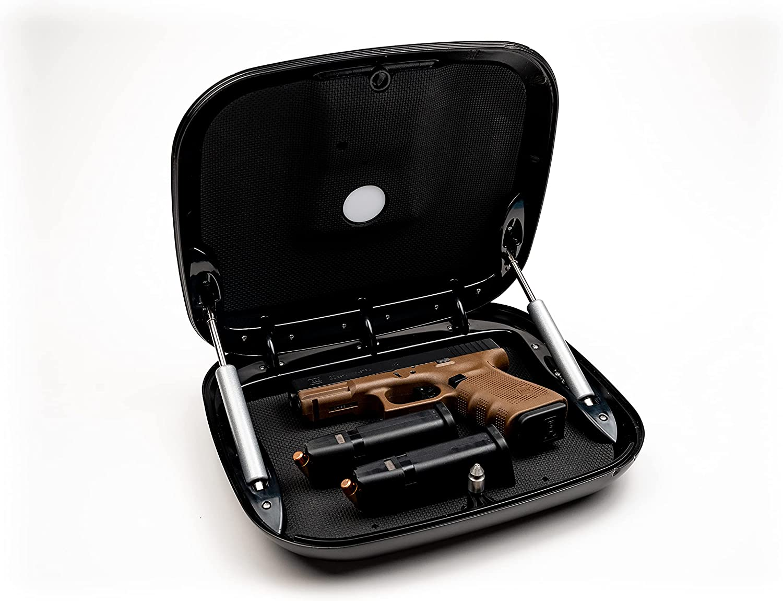 The GunBox Guardian Gun Safe - Nashville-Davidson Product Mall with Biometri Portable Black