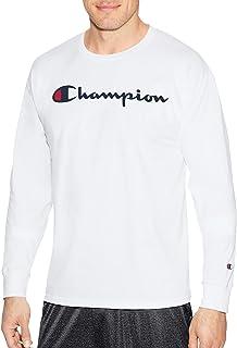 تي شيرت رجالي كلاسيكي بأكمام طويلة عليه شعار Champion