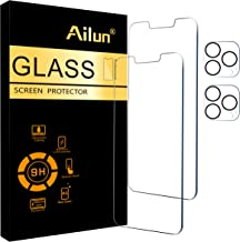 Ailun 2Pack Screen Protector Compatible for iPhone 13 Pro [6.1 inch] Display 2021 + 2 Pack Camera Lens Protector,Tempered ...