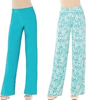 Iman Women's Global Chic Luxury Resort Palazzo Pants Pack of Two