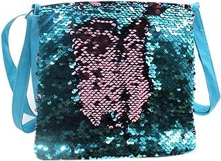 Aimeio Kids Toddler Glitter Sequin Crossbody Purse Handbag Small Flap Shoulder Bag for Little Girls