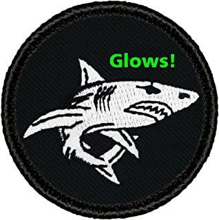 "Glow Shark Patrol Patch - 2"" Diameter Round Embroidered Patch (Sew-on)"