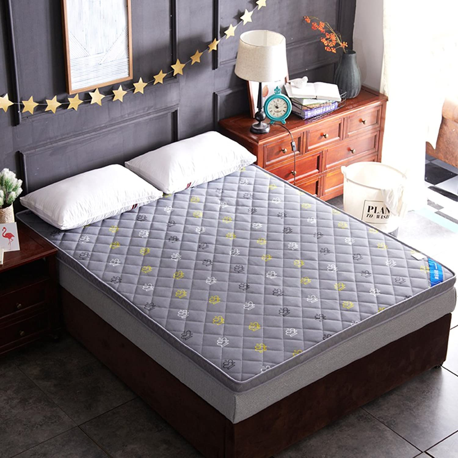 Thickened Mattress,Flannel Folding Mattress,Tatami Mattress,Sponge pad for Dorm Room Bedroom Hotel-F 100x200cm(39x79inch)