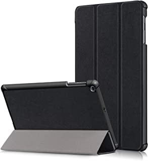 Skeido Ultra-thin Magnetic Folio PU Leather Case for Samsung Galaxy Tab A T510 T515 10.1 inch (2019) Tablet Funda Capa Cover -Black