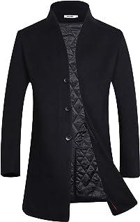 APTRO Men's Winter Stylish Long Slim Fit Luxury Wool Trench Coat Long Jacket