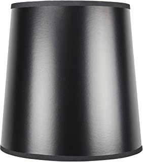 HomeConcept 101212DRGY Black Parchment Gold-Lined Fabric Drum Lampshade with Brass Spider Fitter by Home Concept, 10