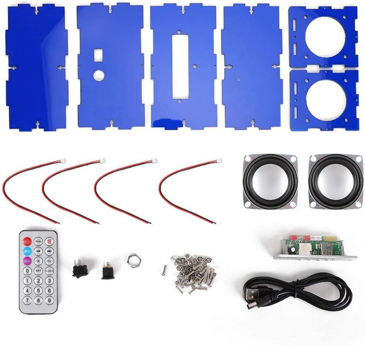Lowest price challenge PUSOKEI DIY Free shipping Bluetooth Speakers Kit Music MP3 3W Maker Assembly