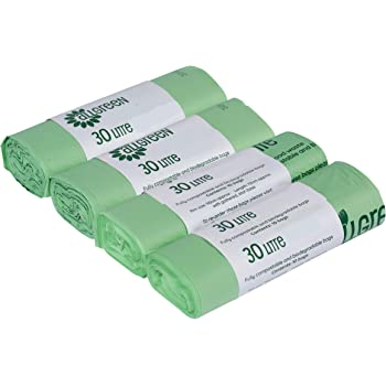 All-Green - Bolsas biodegradables (30 L, 40 unidades): Amazon.es ...