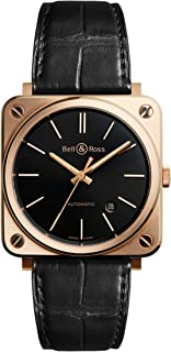Bell & Ross Rose Gold BR S 39mm Midsize Watch BRS92-BL-PG/SCR