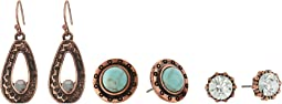 M&F Western - Blazin Roxx 3-Pair Earrings Set