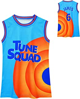 Kids Basketball Jerseys for Boys S-pace Jam Sports Outfits Youth 90s Hip Hop Shirts Size 5-12
