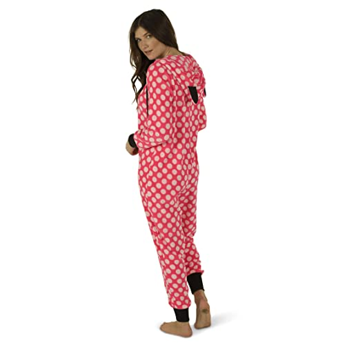 d7be02683a Totally Pink Women s Warm and Cozy Plush Adult Onesies for Women One-Piece  Novelty Pajamas