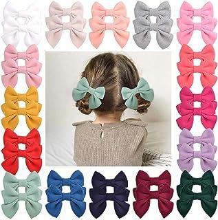 32pcs Baby Girls Hair Bow Alligator Clips Velvet Hair Barrettes Hair Accessories for Little Girls Toddlers Teens Kids