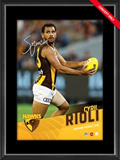 Sport Entertainment Products Cyril Rioli Signed Vertiramic