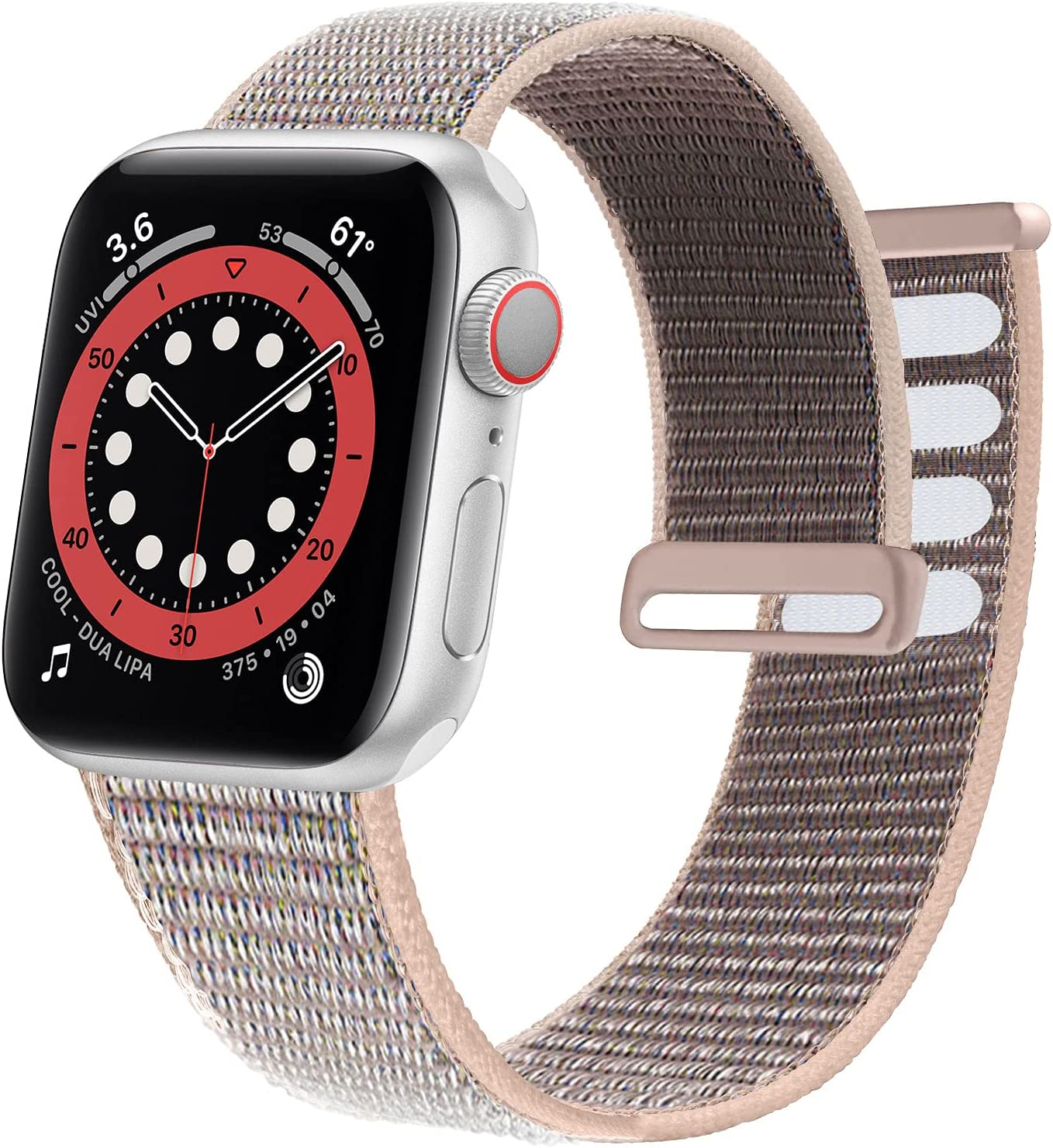 Ycysh Velcro Nylon Band Compatible with Apple Watch Band 38mm 40mm 42mm 44mm, Men Women Adjustable Sport Band Compatible for iWatch Series 6 5 4 3 2 1 SE