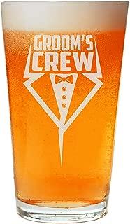 NeeNoNex Groom's Crew Tuxedo Beer Pint - Bachelor Party Favors - Groomsmen Proposal