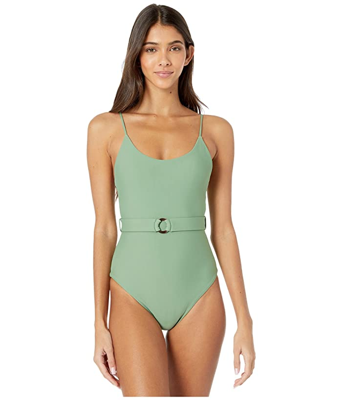 1930s Syle Bathing Suits MIKOH SWIMWEAR Mila One-Piece Maui Meadow Womens Swimsuits One Piece $109.00 AT vintagedancer.com