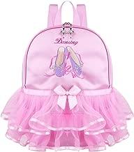 Freebily Little Girls Princess Dancing Backpack Ballet Dance Bag Tiered Ruffled Tutu Shoulder Bag Pink One Size