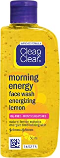 Clean & Clear Morning Energy Lemon Face Wash, 50ml