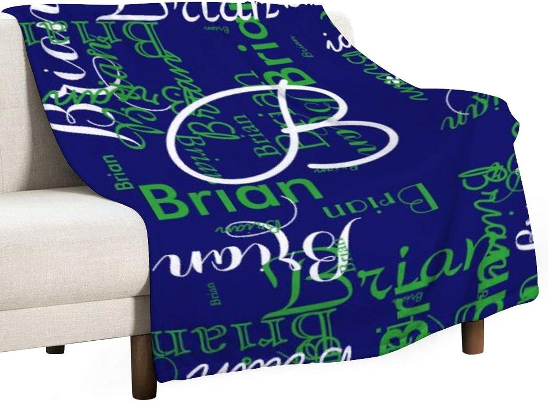 Flannel Fleece Blankets Warm Cozy Soft Name Blanket B 春の新作 Create デポー Boy