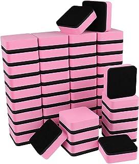 محايات صغيرة قابلة للمسح الجاف، عبوة من 48 قطعة من IHPUKIDI الممحاة الجافة المغناطيسية السبورة لتنظيف السبورة للأطفال والف...
