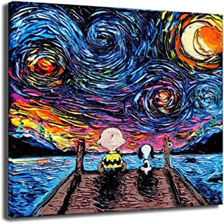 Best snoopy canvas art Reviews